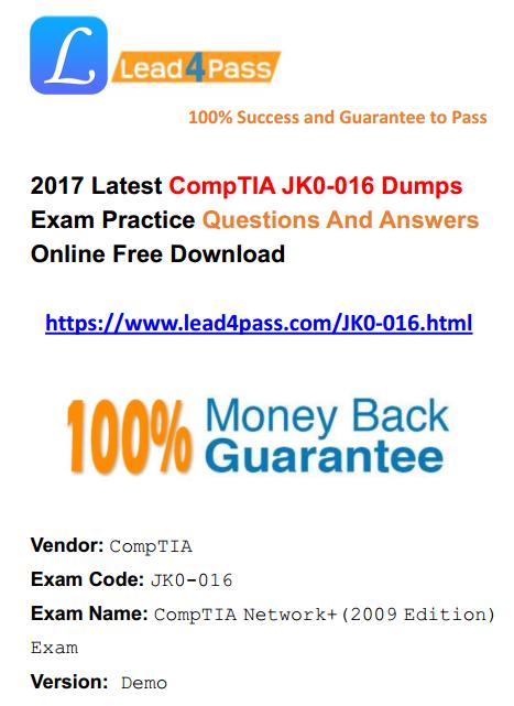 JK0-016 dumps